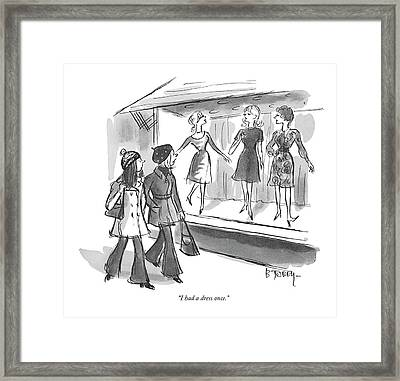 I Had A Dress Once Framed Print by Barney Tobey