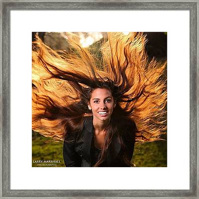 I Had An Opportunity To Shoot Dana Framed Print by Larry Marshall