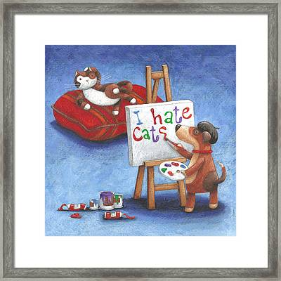 I Hate Cats Framed Print