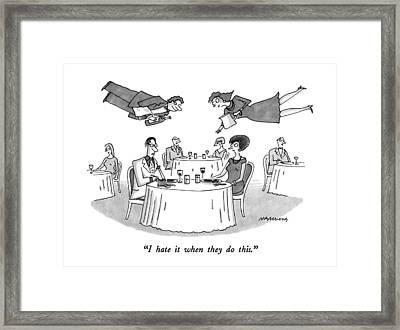 I Hate It When They Do This Framed Print by Mick Stevens
