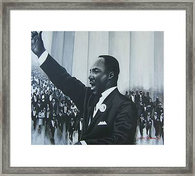 I Have A Dream Framed Print by Howard Stroman