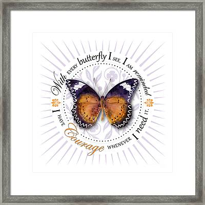 I Have Courage Whenever I Need It Framed Print by Amy Kirkpatrick