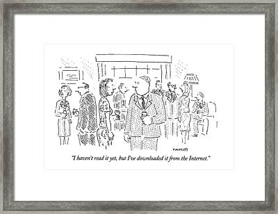I Haven't Read It Yet Framed Print by Robert Mankoff
