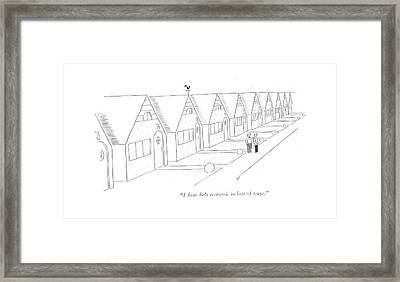 I Hear He's Eccentric In Lots Of Ways Framed Print by Garrett Price