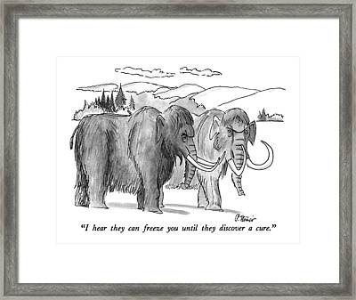 I Hear They Can Freeze You Until They Discover Framed Print by Peter Steiner