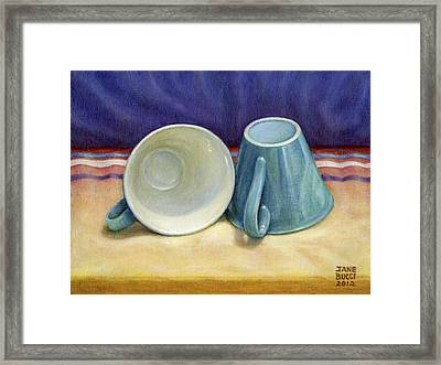 Framed Print featuring the painting I Hear You by Jane Bucci
