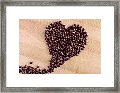 I Heart Chocolate Framed Print