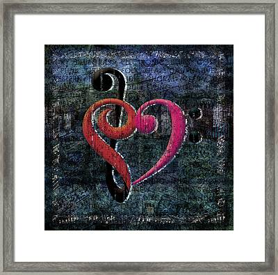 I Heart Music Framed Print