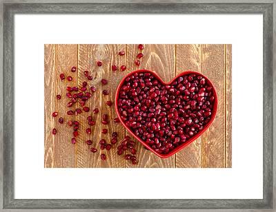 I Heart Pomegranates Framed Print by Teri Virbickis