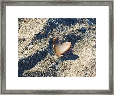 I Heart The Beach Framed Print by Anna Villarreal Garbis