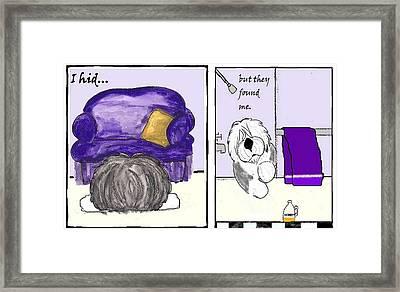I Hid.... Framed Print