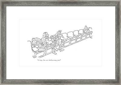 I Hope I'm Not Disillusioning You Framed Print by George Price