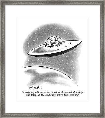 I Hope My Address To The American Astronomical Framed Print by Henry Martin