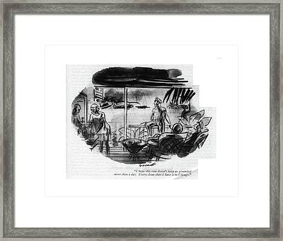 I Hope This Rain Doesn't Keep Us Grounded More Framed Print