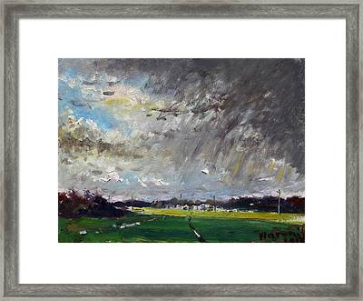 I Just Beat The Rain Framed Print by Ylli Haruni