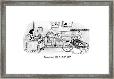 I Just Dialed 1-800-baguette Framed Print by Victoria Robert