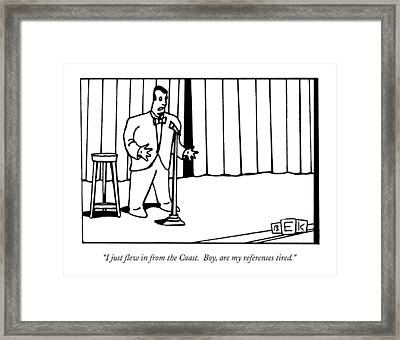 I Just Flew In From The Coast.  Boy Framed Print