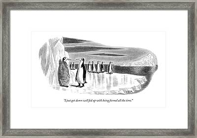 I Just Got Damn Well Fed Up With Being Formal All Framed Print by Richard Taylor