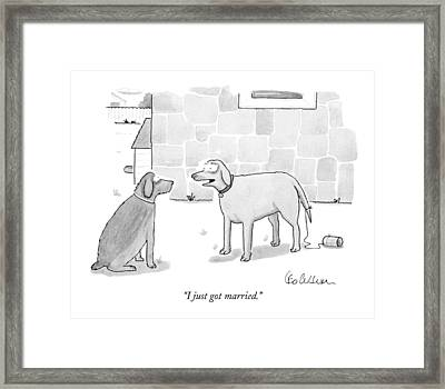 I Just Got Married Framed Print by Leo Cullum
