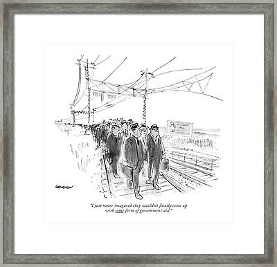 I Just Never Imagined They Wouldn't ?nally Come Framed Print by James Stevenson