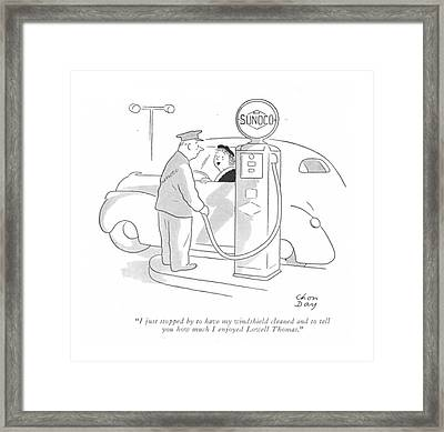 I Just Stopped By To Have My Windshield Cleaned Framed Print by Chon Day