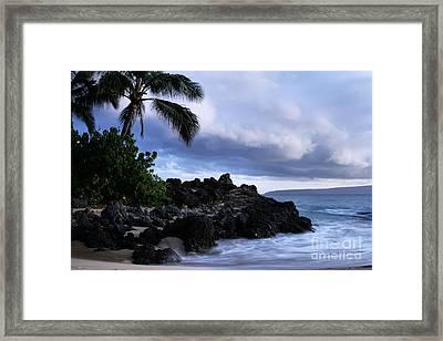 I Ke Kai Hawanawana Eia Kuu Lei Aloha - Paako Beach Maui Hawaii Framed Print