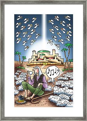 I Keep Hearing Music Framed Print