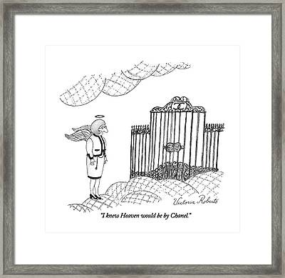 I Knew Heaven Would Be By Chanel Framed Print by Victoria Roberts