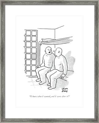 I Knew What I Wanted Framed Print