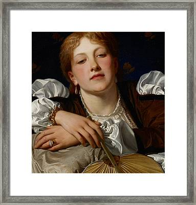 I Know A Maiden Fair To See Framed Print by Charles Edward Perugini