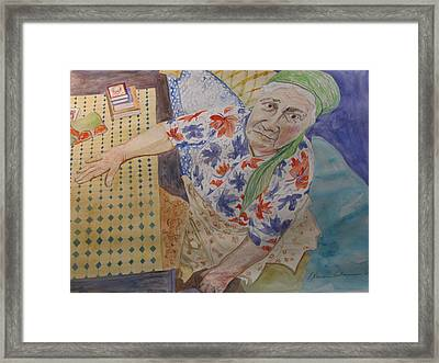 I Know I'm Right  Framed Print by Esther Newman-Cohen
