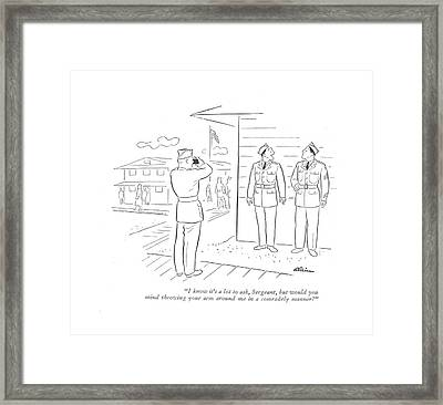 I Know It's A Lot To Ask Framed Print