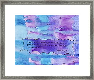 I Know The Plans Framed Print
