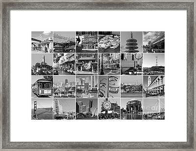 I Left My Heart In San Francisco 20150103 Horzontal Bw Framed Print by Wingsdomain Art and Photography