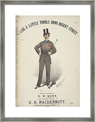 I Like A Little Toddle Framed Print by British Library