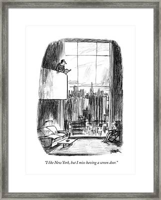 I Like New York Framed Print by Robert Weber