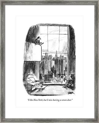 I Like New York Framed Print