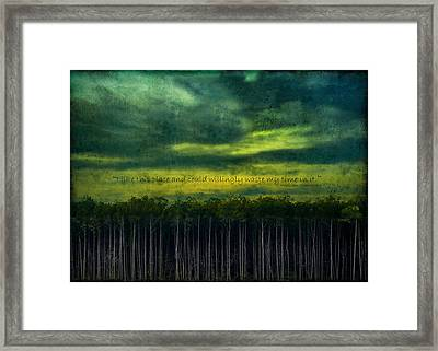 I Like This Place Framed Print