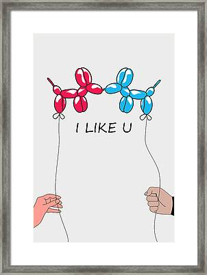 I Like You 2 Framed Print by Mark Ashkenazi