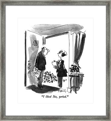 I Liked Ike Framed Print by Donald Reilly
