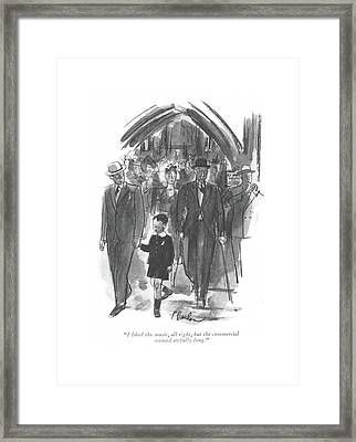 I Liked The Music Framed Print by Perry Barlow