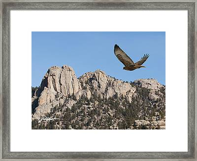I Live In High Country Framed Print