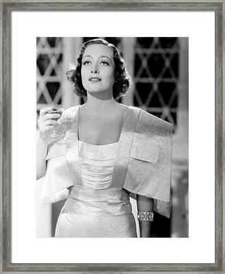 I Live My Life, Joan Crawford Framed Print