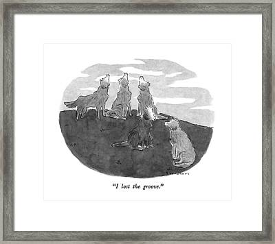 I Lost The Groove Framed Print by Danny Shanahan