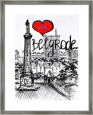 I Love Belgrade Framed Print