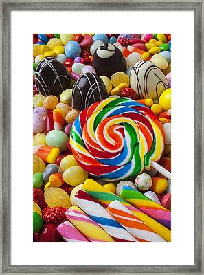 I Love Candy Framed Print by Garry Gay