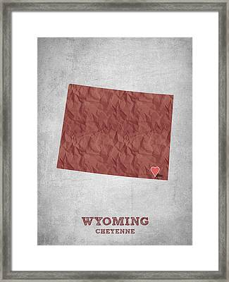 I Love Cheyenne Wyoming - Red Framed Print by Aged Pixel