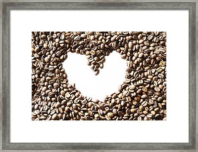 I Love Coffee Beans Framed Print by Georgia Fowler
