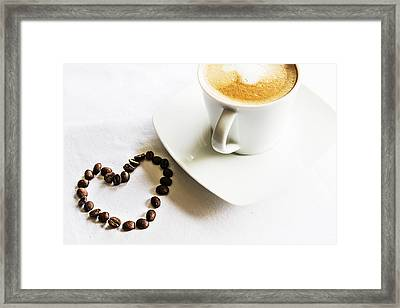 I Love Coffee Framed Print by Georgia Fowler