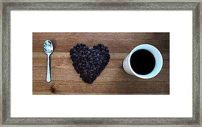 I Love Coffee Framed Print by Nicklas Gustafsson